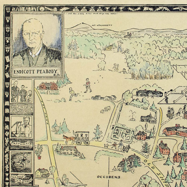 Groton School 1884-1934, pictorial map detail