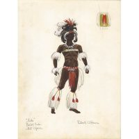 Robert O'Hearn costume design for Aida, Metropolitan Opera