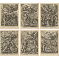 Allegories of the Seven Virtues (6 of 7 prints in the set)