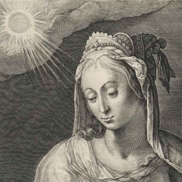 Plate 10 from Duodecim Sibyllarum, detail