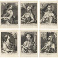 Six plates from Duodecim Sibyllarum