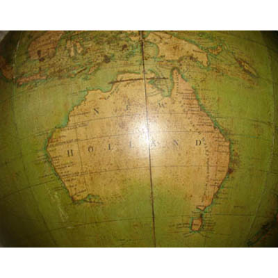 W & T.M. Bardin 18-Inch Terrestrial Floor Globe, detail