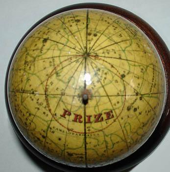 John & William Cary 3-Inch Celestial Pocket Globe in Fish Skin Case, detail