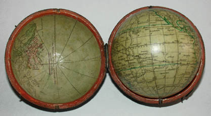 John & William Cary Terrestrial 3-Inch Pocket Globe, detail