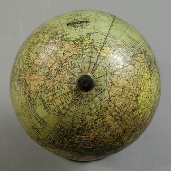 W. & A.K. Johnston/ Weber Costello 6-Inch Terrestrial Table Globe, detail