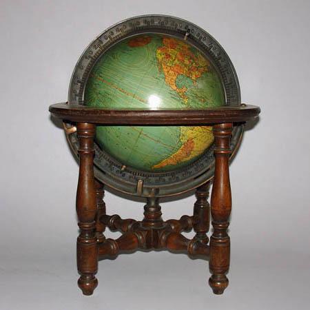 W. & A.K. Johnston/ Kittinger 8-Inch Terrestrial Table Globe