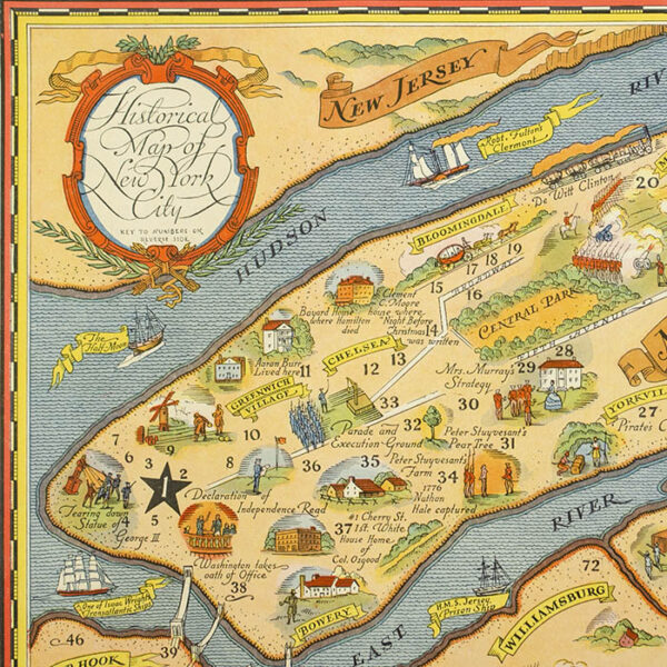 Historical Map of New York City, detail