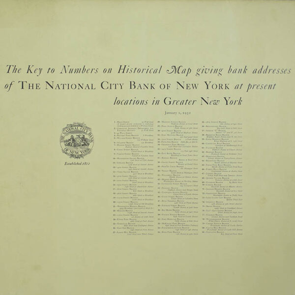 Historical Map of New York City, verso
