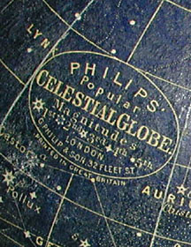 Philip 5.5-Inch Celestial Table Globe, detail