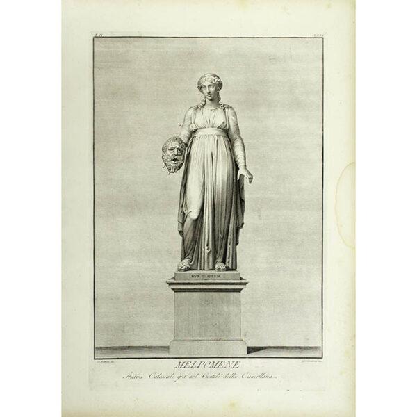 Melpomene, Statua Colossale giá nel Cortile della Cancellaria, Plate 26 [Melpomene, Colossal Statue already in the Courtyard of the Chancellery] (Matteini/Carattoni)