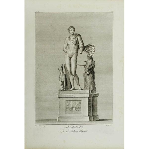 Meleagro, Giá nel Palazzo Pighini, Plate 34 [Meleager, Already in the Palazzo Pighini] (Pacetti/Bossi)
