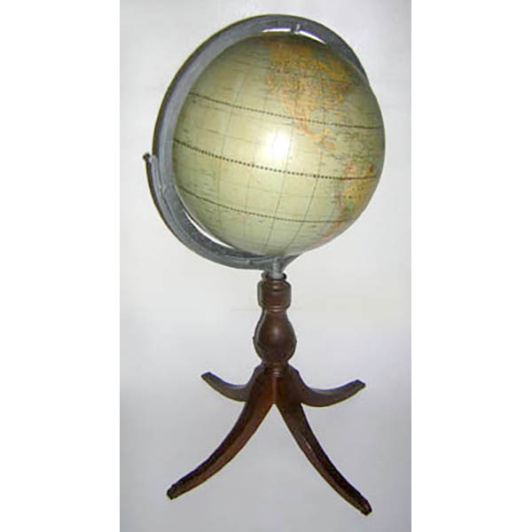 "Weber Costello 16-Inch ""Political Reality"" Duncan Phyfe Floor Globe"