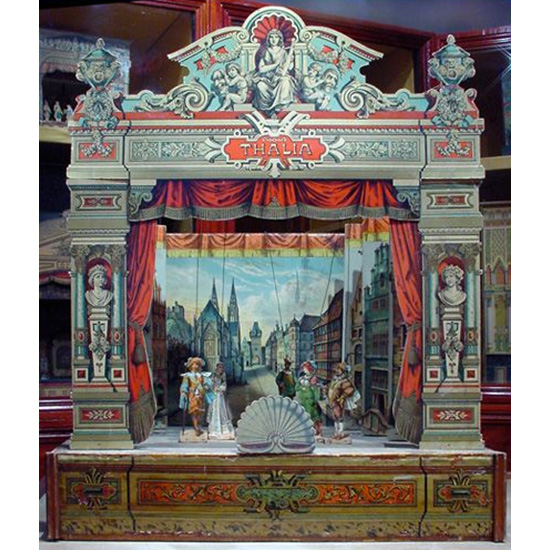Example of a toy theater on display at Pickfords House, Derby, England. Photo: Wikimedia Commons