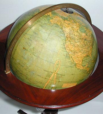 G.W. Bacon & Co./ Weber Costello 12-inch Terrestrial Floor Globe