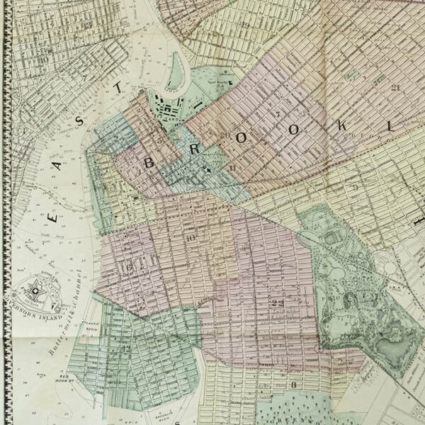 M. Dripps, Map of Brooklyn and Vicinity, 1869, detail