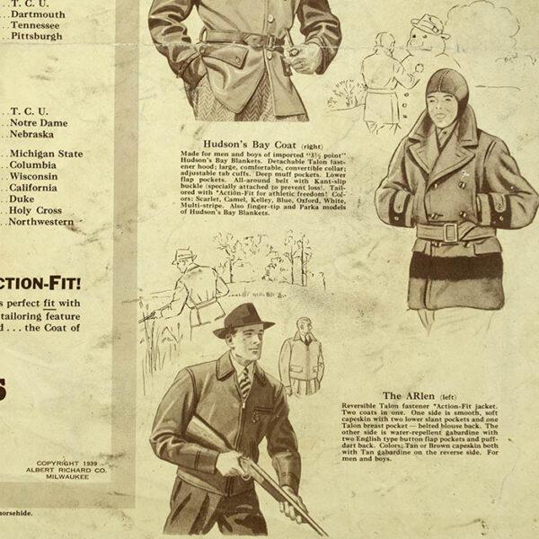 Pigskin Panorama News: Albert Richard Football Map, 1939, verso detail
