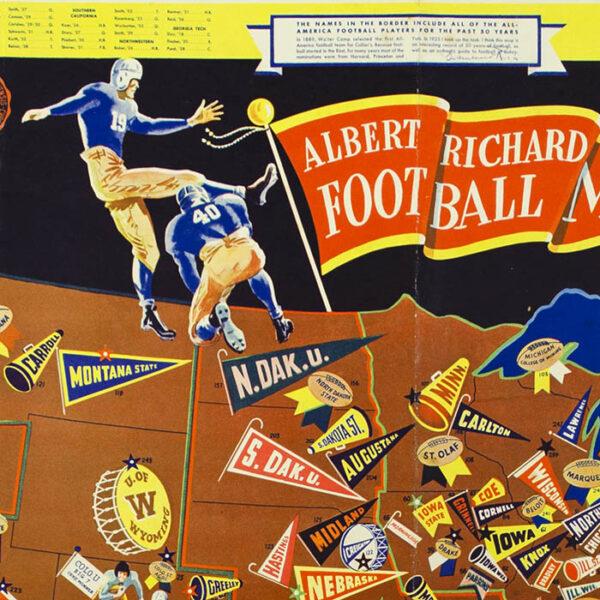 Albert Richard Football Map, 1940, detail