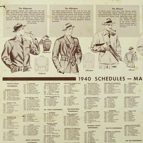 Albert Richard Football Map, 1940, verso detail