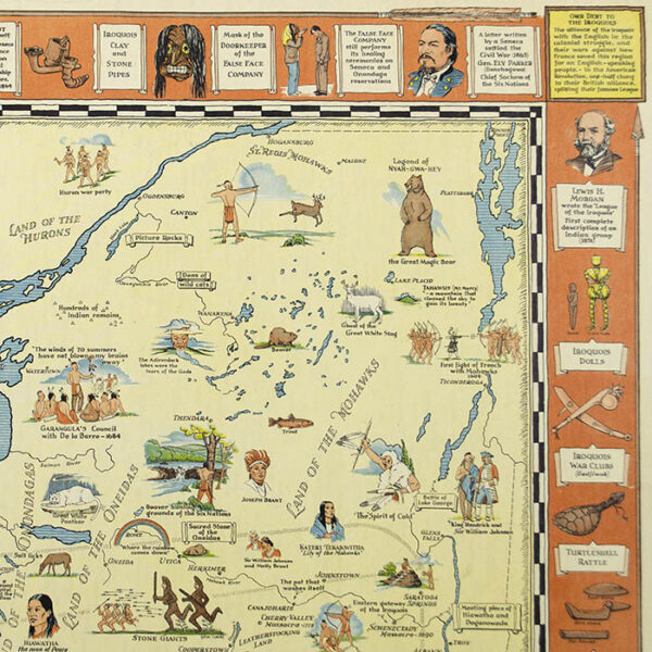 Indian Episodes of New York State, Land of the Hodenosaunee, map detail