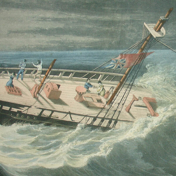 The Melancholy Ship Wreck of the Frances Mary, detail