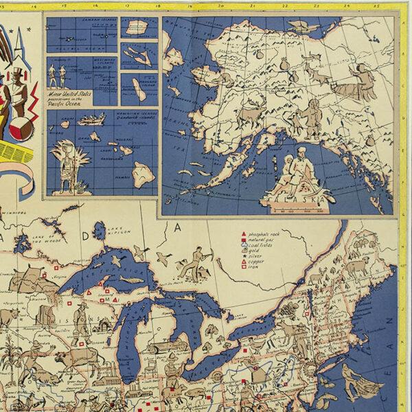 Edward Everett Henry, Our United States, detail