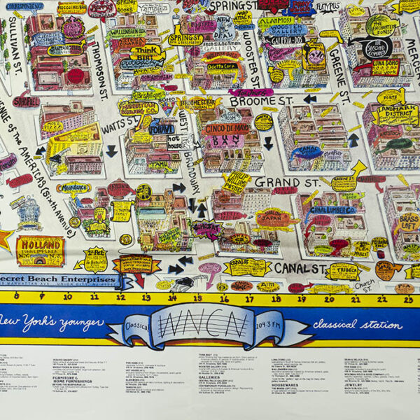 The Soho (South of Houston) Tour and Poster Guide Map, detail
