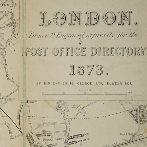Map, London Post Office Directory