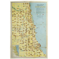 Chicago Motor Coach Pictorial Map of Chicago