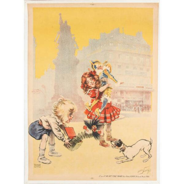 Maurice Neumont poster, [A La Place Clichy — Étrennes]