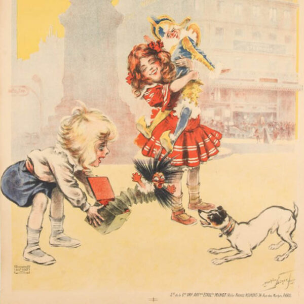 Maurice Neumont poster, [A La Place Clichy — Étrennes] detail