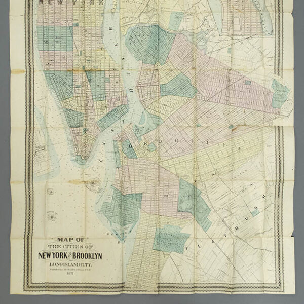 M. Dripps, Map of the Cities of New York and Brooklyn and Long Island City, detail