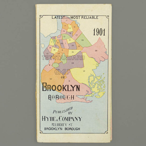 Hyde & Company, Map of the Borough of Brooklyn, City of New York, front cover