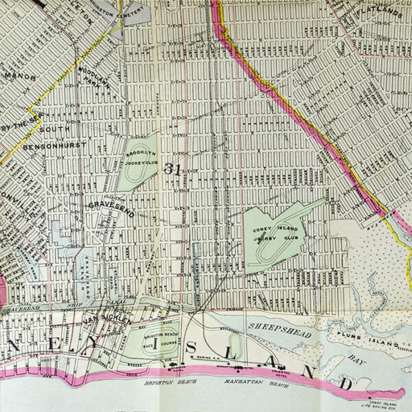 Hyde & Company, Map of the Borough of Brooklyn, City of New York, detail