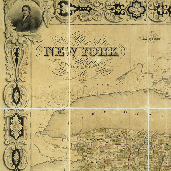 Sherman and Smith, Map of the State of New York, detail