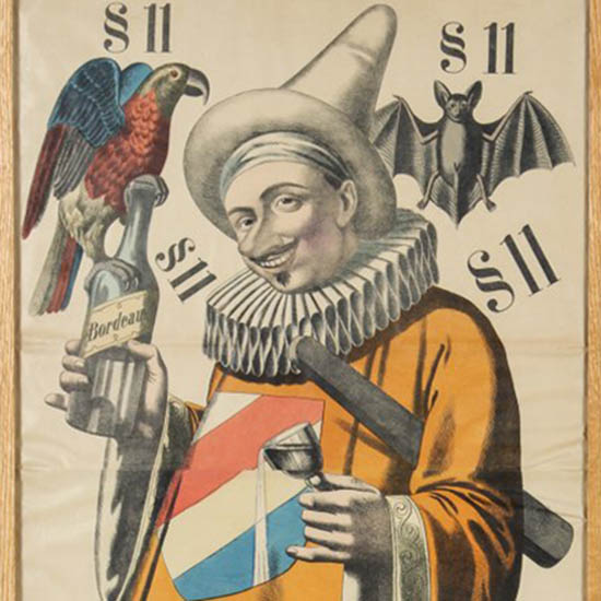 [Pierrot], French poster, 1880s, detail