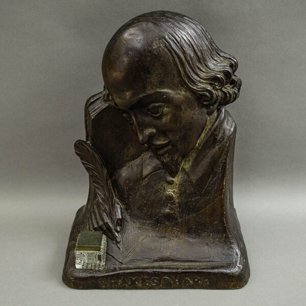 Shakespeare Profile Bust and Inkwell