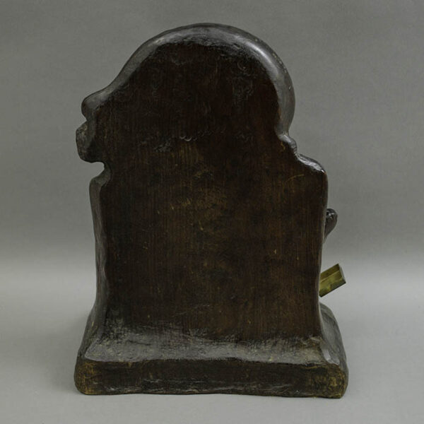 Shakespeare Profile Bust and Inkwell, verso