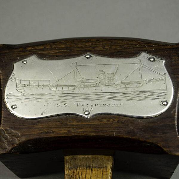 SS Prosperous Souvenir Mallet or Gavel, detail