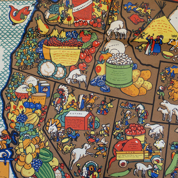 A Food Map of the United States, detail