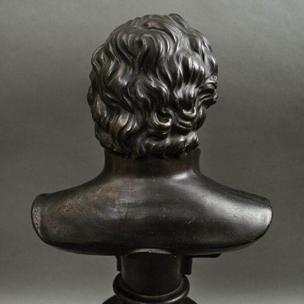 Rudolf Uffrecht, Portrait Bust of Goethe, detail