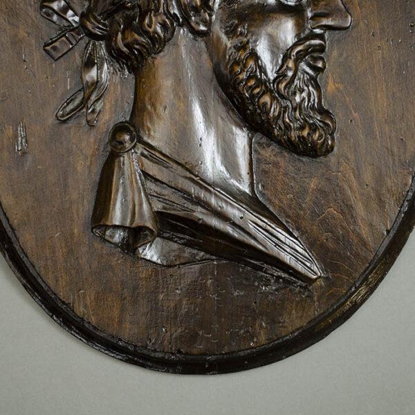 Man Crowned with Laurel Leaves, detail