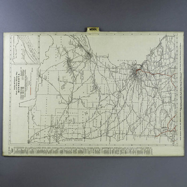 Rand McNally Custom Set of Rock Island Line State Maps
