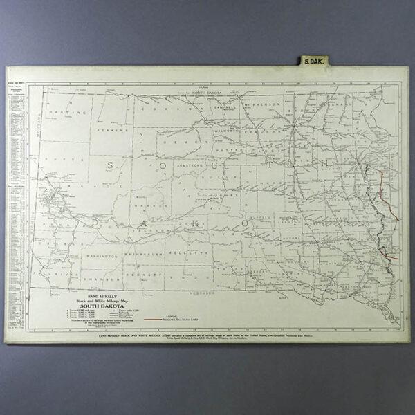 Rand McNally Custom Set of Rock Island Line State Map