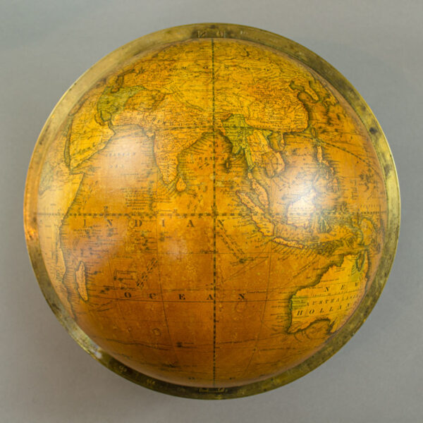 James Wilson & Sons 13-inch Terrestrial Table Globe, detail