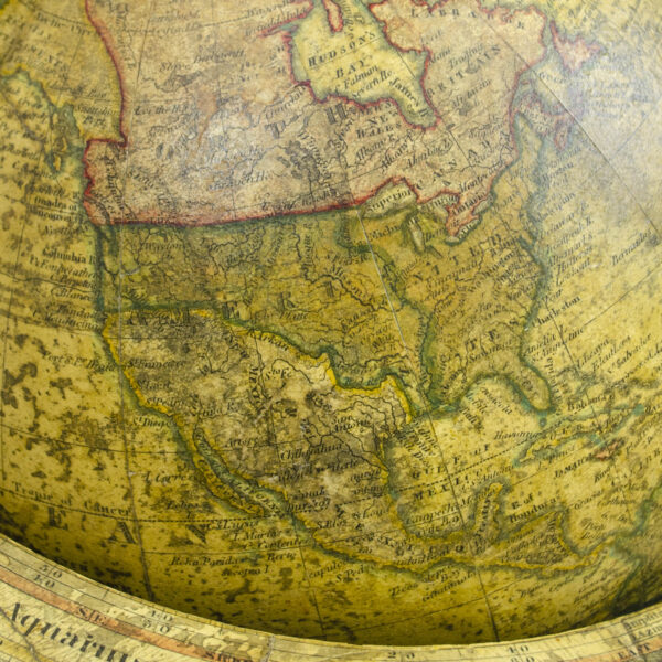 James Wilson 9-inch Terrestrial Table Globe, detail