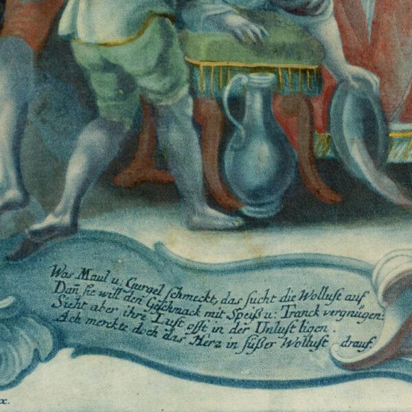 Der Geschmack. Gustus. [Taste], detail