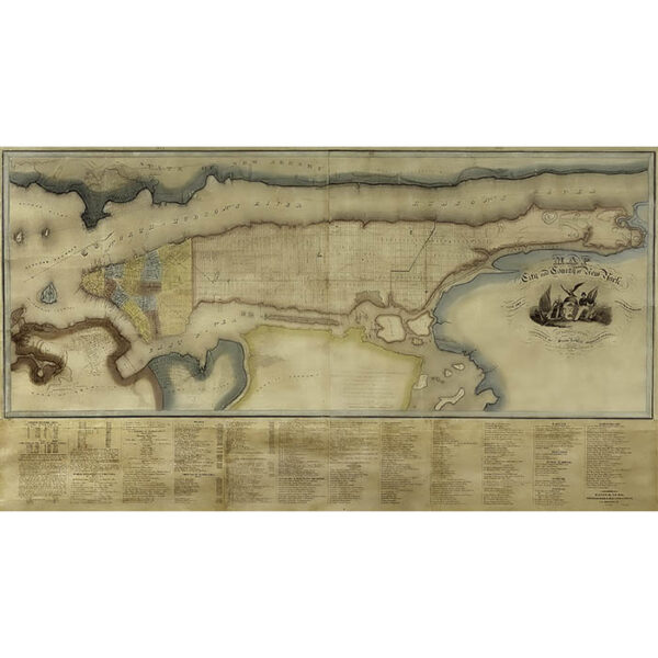 David Burr Wall Map, New York City and County