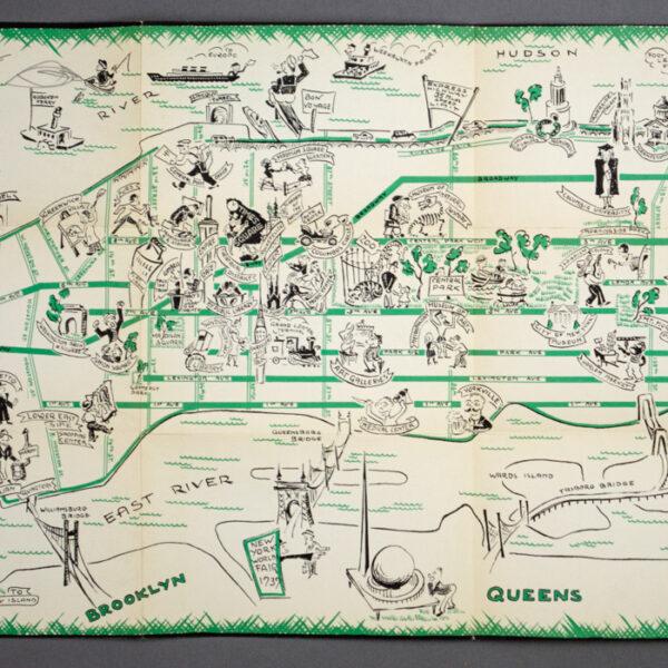 Cartoon Map, New York City