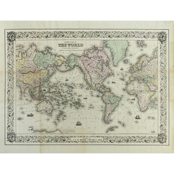 Colton's Map of The World on Mercator's Projection