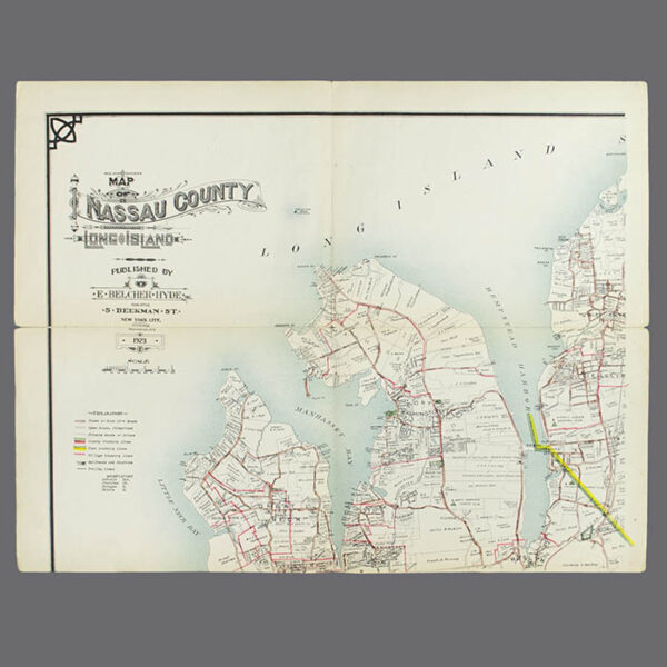 E. Belcher Hyde, Real Estate Map, Nassau County, Long Island, N.Y., Library Form, upper left map